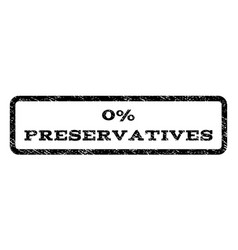 0 percent preservatives watermark stamp vector