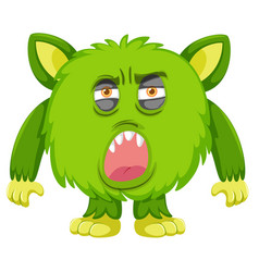 A green monster facial expressiona vector
