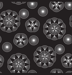 abstract geometric dandelion flowers pattern vector image