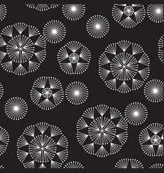 abstract geometric dandelion flowers pattern vector image