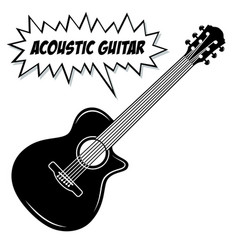 Acoustic guitar 6 strings vector