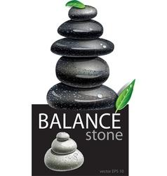 Balanced Zen stones vector