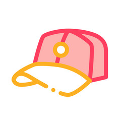 baseball cap hat icon outline vector image