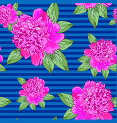 Beautiful seamless pattern with pink roses on a vector