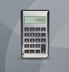Calculator on gray stylish background vector