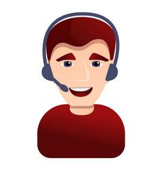 call center man icon cartoon style vector image