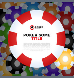 casino chips white background with place for your vector image