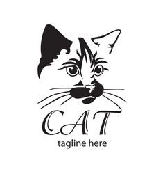 cat logo design template vector image
