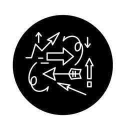 chaos theory black icon sign on isolated vector image