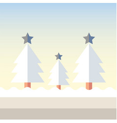 Christmas tree snow vector