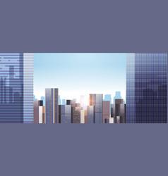 city buildings skyline modern architecture vector image