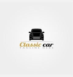 Classic car icon templatecreative logo design vector