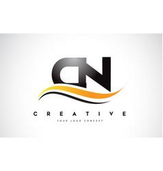 Cn c n swoosh letter logo design with modern vector