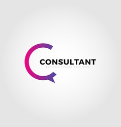Colorful consultant letter type c logo template vector