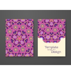 Colorful ornamental ethnic booklet set vector image