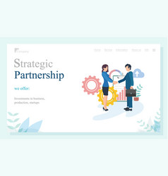 Company partnership business investment vector