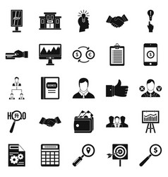 Compensation icons set simple style vector