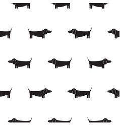 dachshund dog silhouette seamless vector image