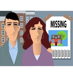 Family looking for a home vector image