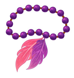 feather bracelet on white background vector image