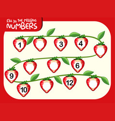 Fill in missing number vector