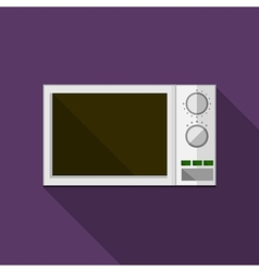 Flat icon for microwave vector image