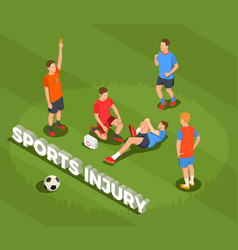 football sports injury background vector image