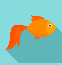 Gold fish icon flat style vector