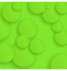 Green Circle Paper Background vector