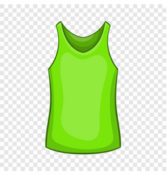 Green mens t-shirt icon cartoon style vector