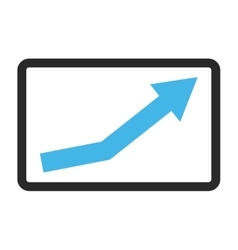 Growth Trend Framed Icon vector