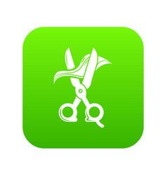 haircut icon green vector image