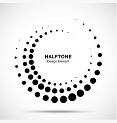 halftone circle dotted texture frame vector image