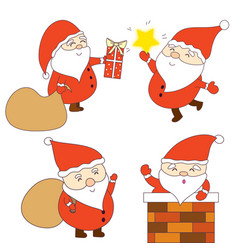 happy and cute santa claus graphic vector image