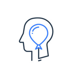 human head profile and balloon psychology vector image