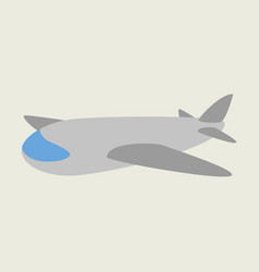 Icon in flat design toy airplane vector