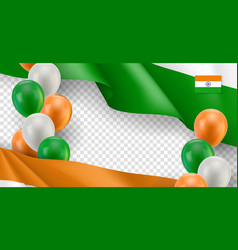 indian patriotic template with space for text vector image