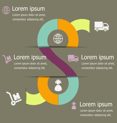 Infographic logistic design template vector