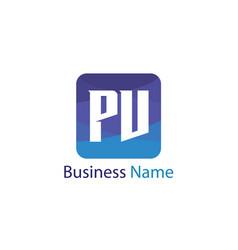 Initial letter pv logo template design vector