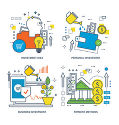 investment business investment payment methods vector image