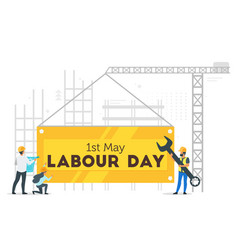labour day design template vector image