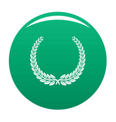 leader wreath icon green vector image