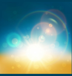 Lens flare abstract background vector