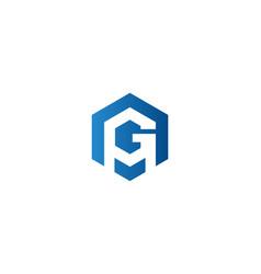 letter g logo designs inspiration vector image