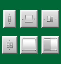 Light switch set vector image