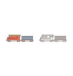 modern train locomotive icon commercial railway vector image