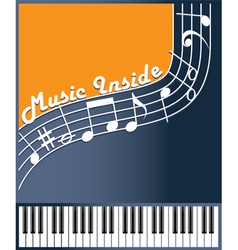 music inside color vector image