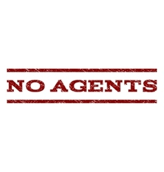 No Agents Watermark Stamp vector