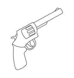 pocket revolver the weapons detective for vector image