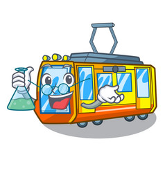 Professor electric train isolated with cartoon vector
